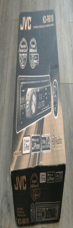 JVC CD Receiver KD-R610, In Dash, 1 DIN, Black for Sale in Aurora, CO