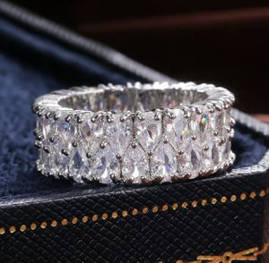 14K WGF White Topaz 10MM Wedding eternity band size 7 for Sale in Bothell, WA