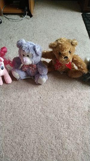 4 cute small plush toys teddy bear my little pony koala bear soft toy plush toy for Sale in Lynnwood, WA