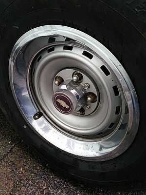 Chevy ralley 15 x 7 rims & tires for Sale in Portland, OR