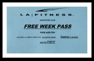 LA Fitness Free Week for Sale in Dallas, TX