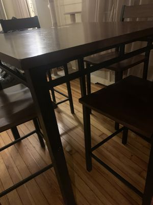 High kitchen table with chairs for Sale in Bethlehem, PA