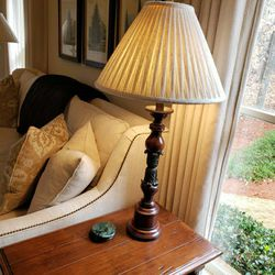 Pair Of GORGEOUS Mahogany With Green Lamps for Sale in Duluth,  GA