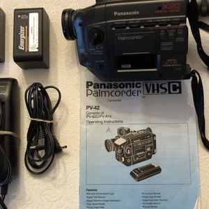 Panasonic PV-42 VHS-C Camcorder With 2 Batteries, Charger, and Manual for Sale in Silver Spring, MD