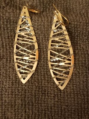 14K Gold Chain Wrapped Teardrop Earrings for Sale in Arlington, VA