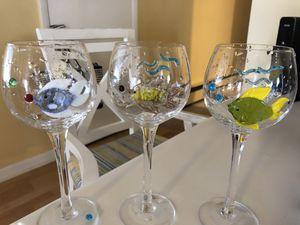Beach wine glasses for Sale in NO POTOMAC, MD
