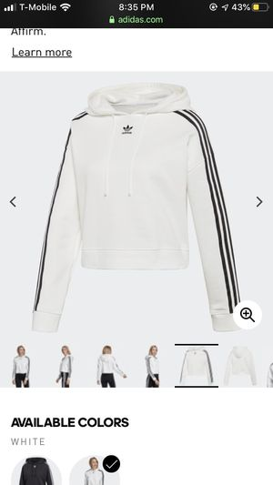 White cropped Adidas hoodie for Sale in Portland, OR