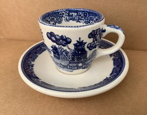 Buffalo China Blue Willow Teacup & Saucer for Sale in Vashon, WA
