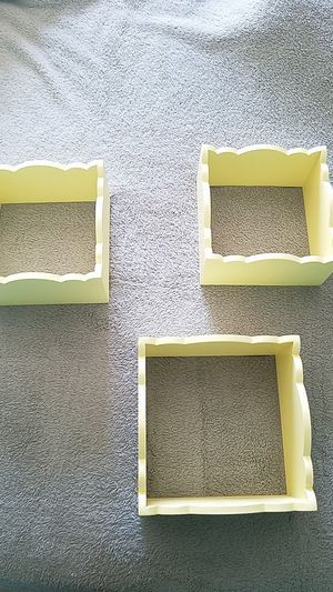 Box type wall shelves, yellow for Sale in Indianapolis, IN