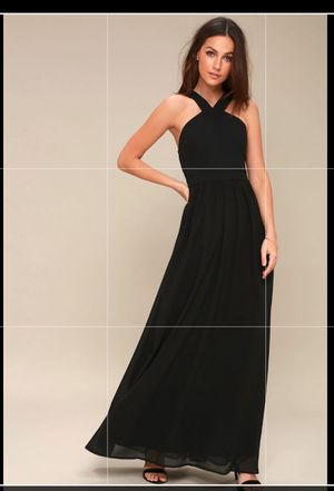 Lulus maxi black dress for Sale in Dallas, TX