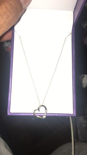 10K necklace with heart pendant from Daniels for Sale in Guadalupe, AZ
