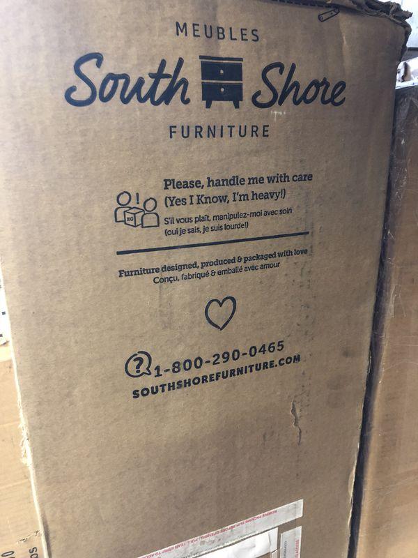 """South Shore Vito Twin Bookcase Headboard, 39"""", White NEW IN BOX"""