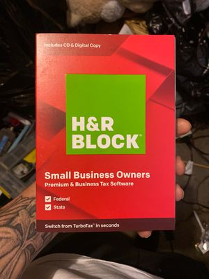 H&R Block Small business owners premium and business tax software for Sale in Fresno, CA