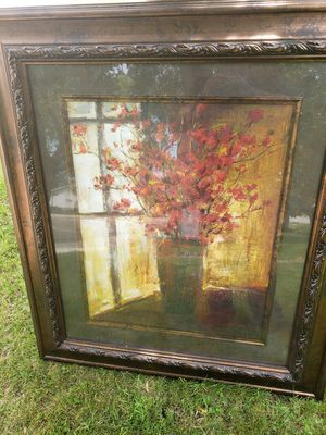 "Framed Flower Paintings 48"" tall by 41"" wide for Sale in Kensett, IA"