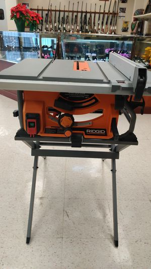"Ridgid 10"" Table Saw w/Stand//120V//15A//60Hz//Excellent Condition ‼️ for Sale in League City, TX"