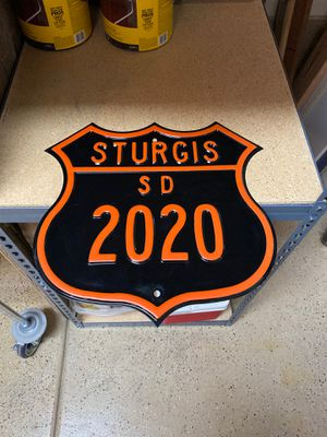 Sturgis 2020 steel sign, NEW for Sale in Blue Diamond, NV
