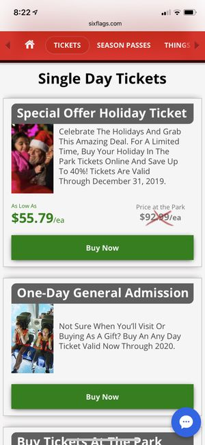 2 Single Day Six Flags Magic Mountain Tickets for Sale in Los Angeles, CA