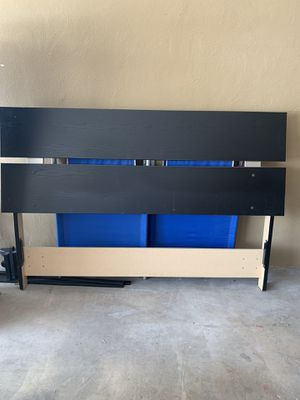Queen size headboard and frame with legs, dresser, TV stand set for Sale in Phoenix, AZ