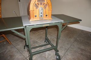 Vintage Tiffany Metal Typewriter Table for Sale in Gonzales, LA