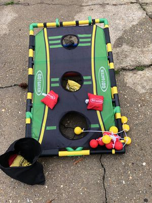 Kids corn hole set you can play six different games great Christmas gift five dollars for Sale in Virginia Beach, VA