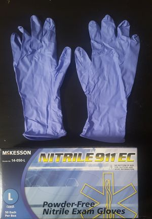 6 BOXES 🚨 Heavy Duty 8 Mil Nitrile Gloves | No Powder | Medium & Large available for Sale in Brea, CA
