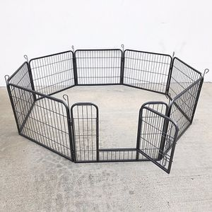 """(NEW) $70 Heavy Duty 24"""" Tall x 32"""" Wide x 8-Panel Pet Playpen Dog Crate Kennel Exercise Cage Fence Play Pen for Sale in Whittier, CA"""