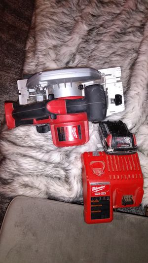"""Milwaukee 6 1/2"""" Circular Saw cordless, with battery and charger and blade, LIKE NEW!! for Sale in Seattle, WA"""