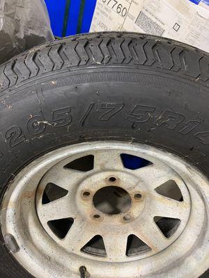 "Trailer spare tire and wheel 15"" 5 lug for Sale in Dania Beach, FL"