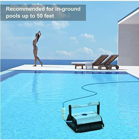 PAXCESS Automatic Pool Cleaner, Robotic In-Ground/Above Ground Pool Cleaner with Wall Climbing Function, Large Filter Basket