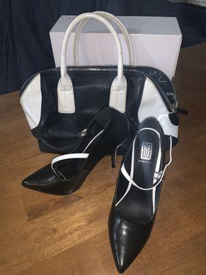 Fun Black & White Heel with Matching Bag for Sale in Atlanta, GA