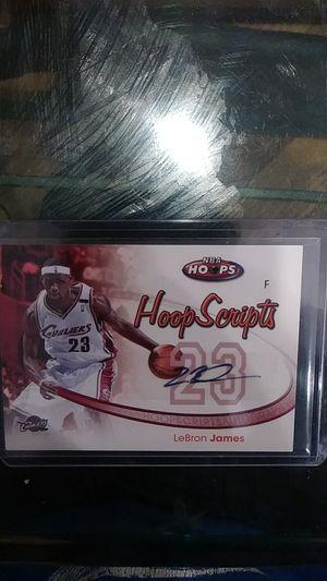 LeBron James autographed NBA Hoops hoop Scripts HS-U for Sale in Balfour, ND