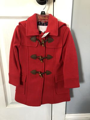 100% Authentic Toddler Girls Red Gucci Bamboo Peacoat Sz 3 for Sale in Freeport, NY