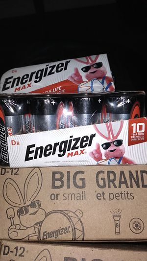 Energizer D batteries new never used or opened for Sale in San Jose, CA