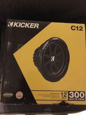 "Kicker 300 Watt Peak 12"" Subwoofer for Sale in Cranston, RI"