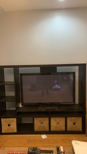 Entertainment center and TV combo(Panasonic) cash only for Sale in Philadelphia, PA