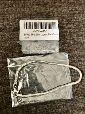 Brand New Sterling Silver Snake Chain Bracelet for Sale in VERNON ROCKVL, CT