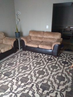 3 Tanish Cousion And Brown Leather Set Couches for Sale in Nashville,  TN