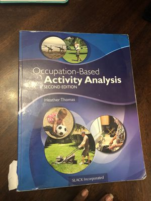 Occupation-Based Activity Analysis 2nd Edition for Sale in Fort Lauderdale, FL