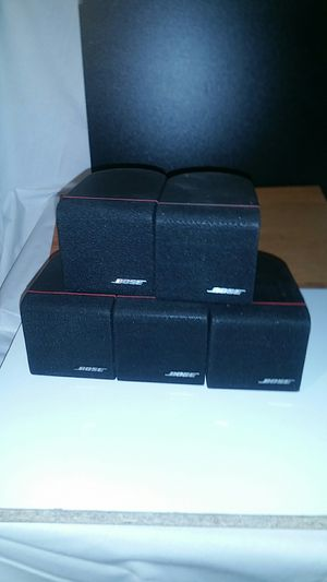 Lot of 5 Bose single Cube acoustimass red line speakers for Sale in Marietta, GA
