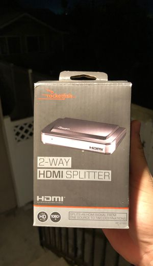 HDMI 2 way splitter by Rocketfish for Sale in Arcadia, CA