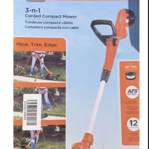 BLACK+DECKER MTE912 12 inch Corded Electric 3-in-1 Trimmer and Mower for Sale in St. Petersburg, FL