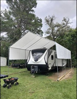 New galvanize steel canopy RV carports 12'x30' (15') tall heavy duty Frame and tarp included More size available for Sale in Tampa, FL