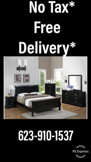 New Bedroom Set...queen sleigh bed frame,dresser,mirror,and nightstand..... for Sale in Sun City West, AZ