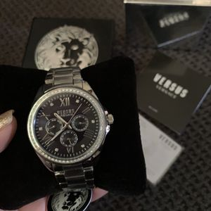 Silver Rhinestone Versace Watch for Sale in Downey, CA