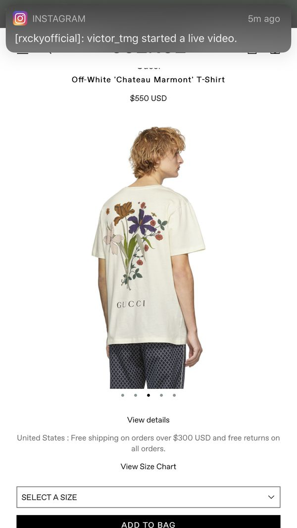 Guccci t shirt size small WOMEN OR MEN