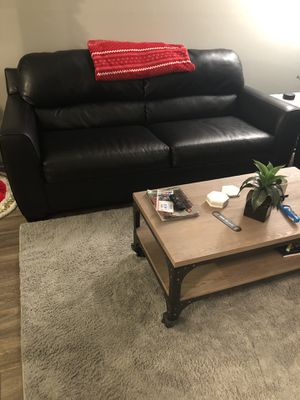 Black leather couches for Sale in Lexington, KY