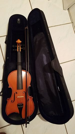 Violin with bow, case and sheet music for Sale in Miami, FL