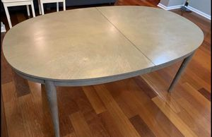 West Elm Gray Dining Room/Kitchen Table w/ Leaf for Sale in Hackettstown, NJ