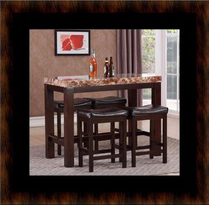 5pc Pub table with 4 stools for Sale in Manassas, VA