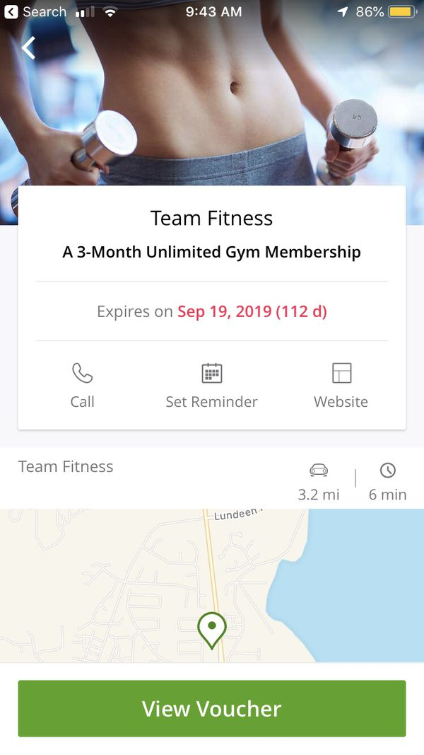 Groupon for Team Fitness 3-month membership